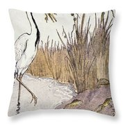Aesop: Frogs Wish For King Throw Pillow