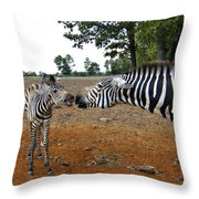 Affectionate Mother Throw Pillow