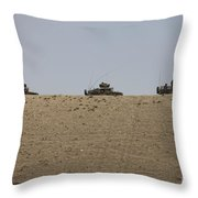 Afghan Army Convoy Drives Throw Pillow