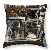 Afghan National Army Soldiers Prepare Throw Pillow