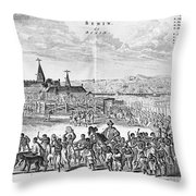 Africa: Benin City, 1686 Throw Pillow