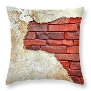 Africa In Bricks Throw Pillow