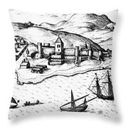 Africa: Portuguese Fort Throw Pillow