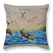After A Fishing Day Throw Pillow