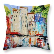 After Hours-reflection Throw Pillow