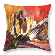 After The Earthquake Throw Pillow