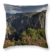 Afternoon Clouds Over Black Canyon Of The Gunnison Throw Pillow