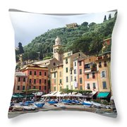 Afternoon In Portofino Throw Pillow