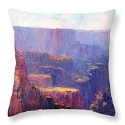Afternoon In The Canyon Throw Pillow