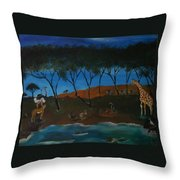 Afternoon In The Serengeti Throw Pillow