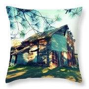 Afternoon Light On Barn Throw Pillow
