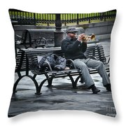 Afternoon Music Throw Pillow