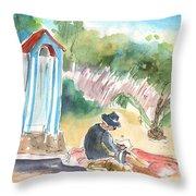 Afternoon On A Cretan Beach Throw Pillow