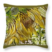 Afternoon Sunflower Throw Pillow