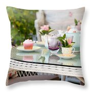 Afternoon Tea And Cakes Throw Pillow