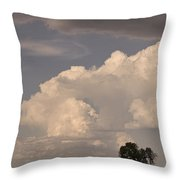 Afternoon Thunderstorm Building East Boulder County Co Plains Throw Pillow