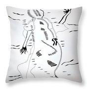 Agahu Dance - Benin Throw Pillow