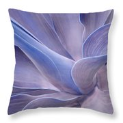 Agave Abstract In Lilac Throw Pillow