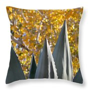 Agave Spikes In Autumn Throw Pillow