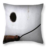 Aged Chamber Pot Throw Pillow