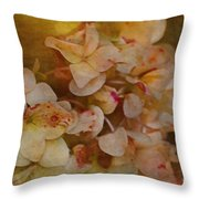 Aged Hydrangeas With Texture Throw Pillow
