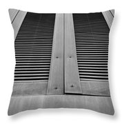Aged Shutters Throw Pillow