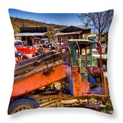 Aging Dump Truck Throw Pillow