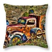 Aging Truck Throw Pillow