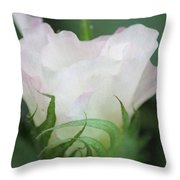 Agriculture - Cotton Bloom Throw Pillow
