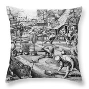 Agriculture: Spring, C1555 Throw Pillow