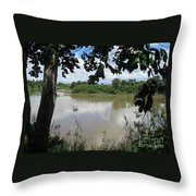 Agusan River Near Ja Pao Throw Pillow