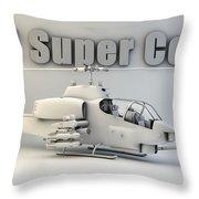 Ah-1 Super Cobra Throw Pillow