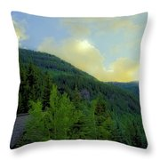 Ah To Live On Vail Mountain Throw Pillow