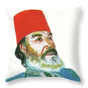 Ahmed Messali Hadj Throw Pillow