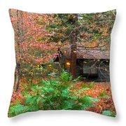 Ahwahnee Cabin Light Throw Pillow
