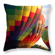 Air Balloon Last Call Throw Pillow