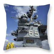 Air Department Sailors Test Throw Pillow by Stocktrek Images