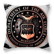 Air Force Medallion Throw Pillow