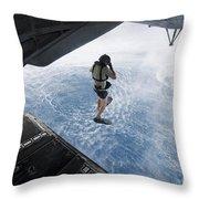 Air Force Pararescueman Jumps Throw Pillow