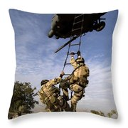 Air Force Pararescuemen Are Extracted Throw Pillow