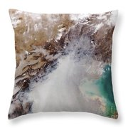 Air Pollution Over China Throw Pillow