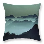 Air Pollution Settles Over The French Throw Pillow