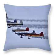 Air Show Flyover Throw Pillow