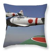 Aircraft From The Tora, Tora, Tora Throw Pillow