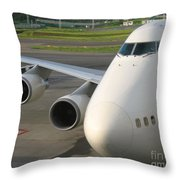 Aircraft Nose And Wing Throw Pillow