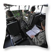 Aircrew Perform Preflight Checklists Throw Pillow