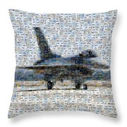 Airforce F-4866 Mosaic  Throw Pillow