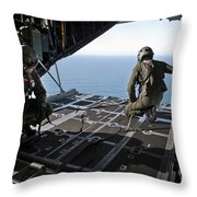 Airmen Wait For The Signal To Deploy Throw Pillow