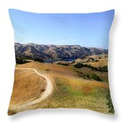 Airplane Hill Throw Pillow