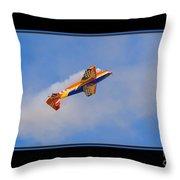 Airplane In Flight Throw Pillow